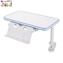 Полка для парты Rifforma с подставкой для книг белый/голубой - фото 10633
