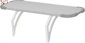 Задняя и боковая полка 75см для Дэми Техно (Techno) белый/серый