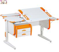 Растущая Парта Дэми Техно (Techno) СУТ 31-05 белый/оранжевый